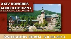 XXIV Kongres Balneologiczny Polskiego Towarzystwa Balneologii i Medycyny Fizykalnej